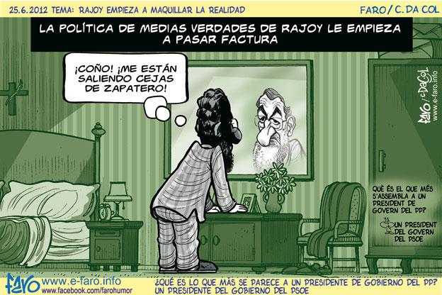 120625.zapatero.Rajoy.cejas.medias.verdades.espejo% - humor en la red