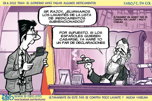 120628.Rajoy.medicamentos.subvencionados.laxante.recortes% - Humor en la red