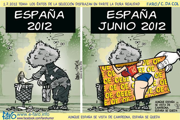 120701.espana.eurocopa.final.crisis.indigente.tia.buena% - Humor en la red