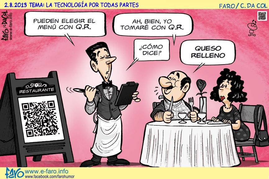 Lunes que café hoy! que desayuno!-http://www.e-faro.info/Imagenes/CHISTES/WChmes02/Acudits2013/130802.restaurante.pareja.codigo.QR.camarero.jpg