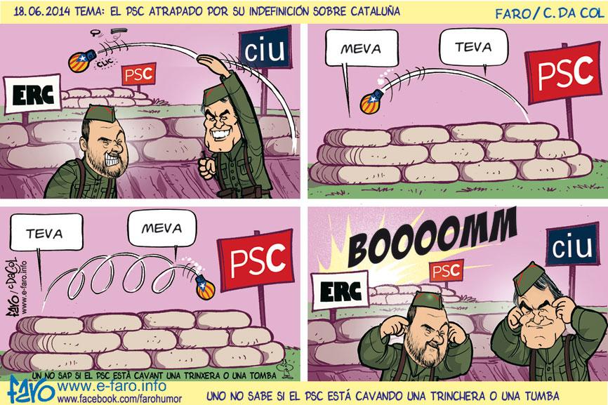 140618.FB-mas.junqueras.crisis.psc.ciu.erc.trinchera.granada.% - Humor salmón