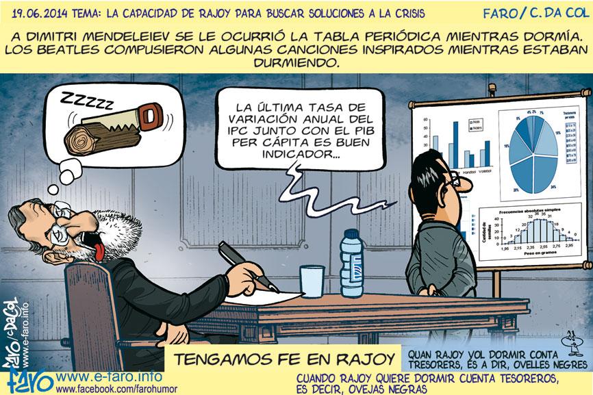 140619.FB-rajoy.dormir.tener.fe.economia.soluciones.crisis% - Humor salmón