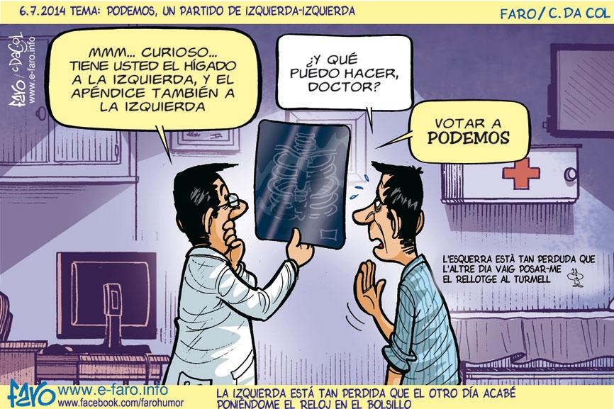 140706.FB-politica-espanola-doctor-paciente-radiografia-podemos-paciente-izquierda-pablo-iglesias-higado-apendice-% - Humor salmón