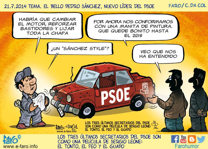 140721.FB-Politica-espanola-PSOE-Sanchez-coche-viejo-mecanico% - Humor salmón