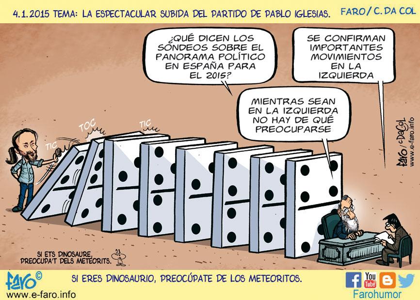 150104-FB-politica-ano-2015-domino-rajoy-pablo-iglesias-sondeos-sociologo% - Humor salmón