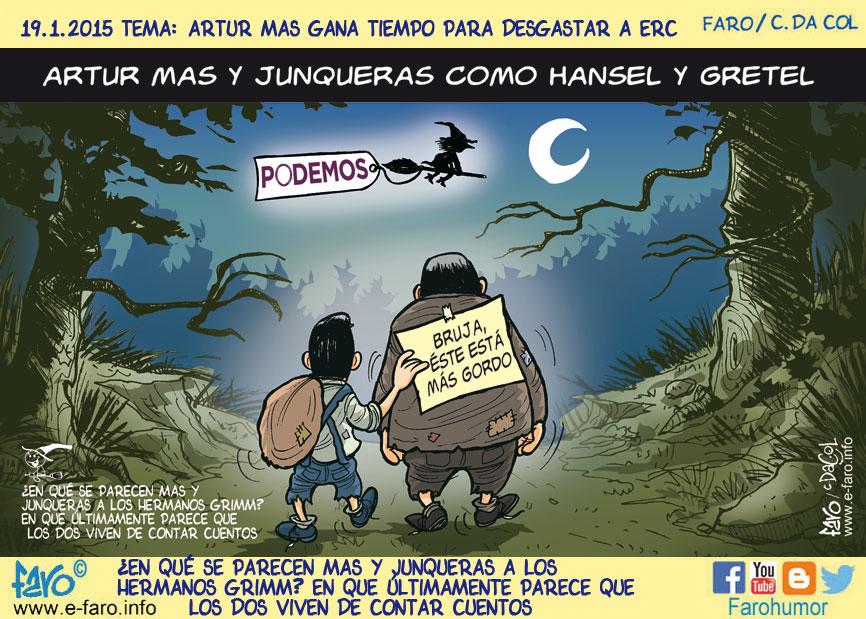 150119-FB-artur-mas-oriol-junqueras-hansel-gretel-podemos-bruja-gordo% - Humor salmón