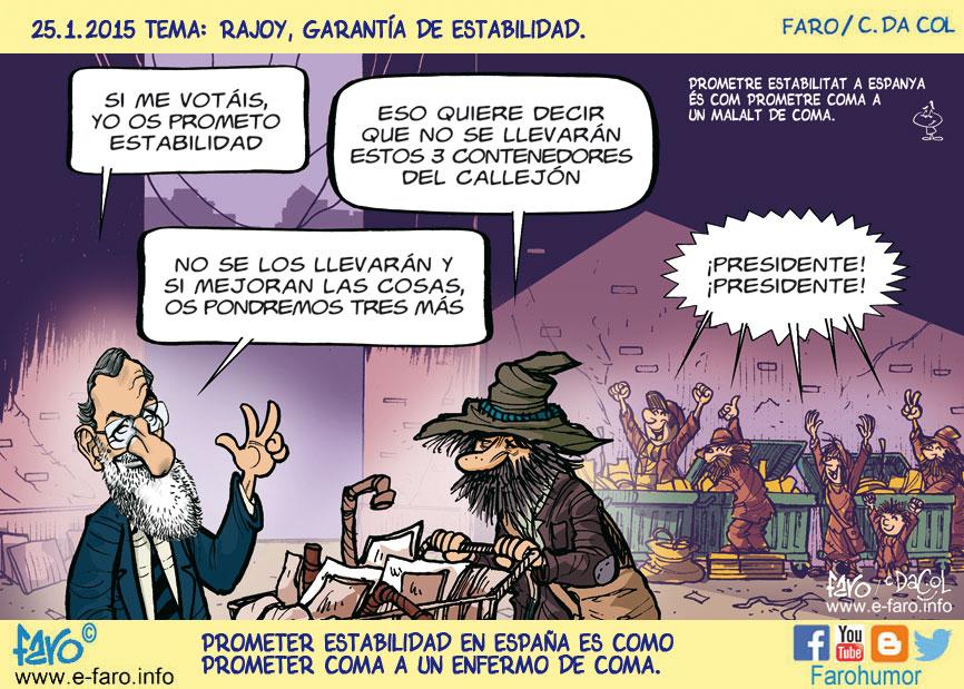 150125-FB-Rajoy-pobres-contenedores-votar-elecciones-estabilidad% - Humor salmón